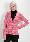 haus und herde cardy, soft blossom, Pullover & leichte Jacken, Rot