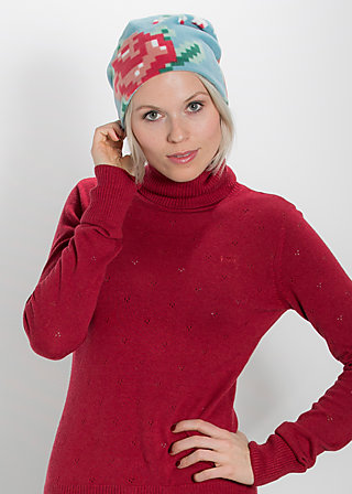head hot beanie, mild winter fleece, Hats/Caps, Blau