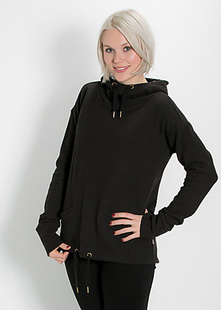 hirtenmädel hooded sweat, black balkan, Pullover & Hoodies, Schwarz