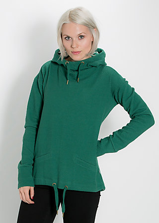 hirtenmädel hooded sweat, green balkan, Pullover, Grün