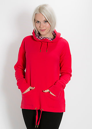 hirtenmädel hooded sweat, red balkan, Pullover, Rot