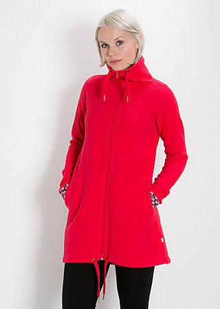 lebensbaum long zip, red balkan, Cardigans, Rot