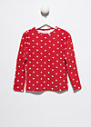 little ladies longsleeve, dancing dots, Shirts, Rot