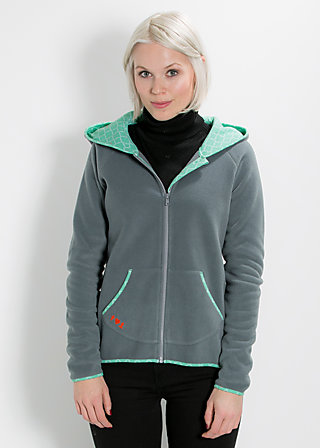 snoozy dwarf zip, good morning gray, Pullover, Grau