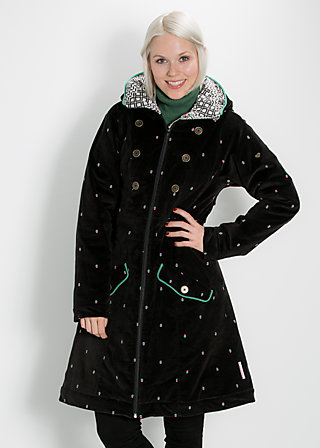 snowfox willow coat, black velvet, Jacken, Schwarz