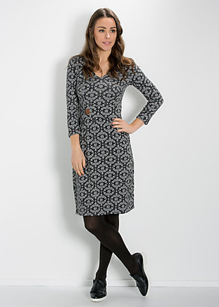 so long solitude dress, dark blossom, Jerseykleider, Schwarz