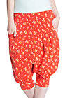 loose & leisure pants, grenadine bouquet, Rot