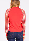 college candy zip, retro dotty, Zipperjacken, Rot