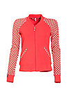 college candy zip, retro dotty, Cardigans, Rot