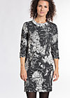 earth is an egg shape dress, travel by night, Jerseykleider, Schwarz