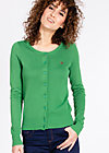 logo knit cardigan, into the forest, Jumpers & lightweight Jackets, Green