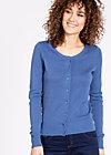 logo knit cardigan, metro blue, Jumpers & lightweight Jackets, Blue