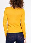logo knit cardigan, yellow me, Cardigans, Gelb