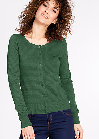 logo knit cardigan, dark grass green, Cardigans, Grün