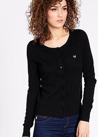 logo knit cardigan, midnight in vegas, Cardigans, Schwarz