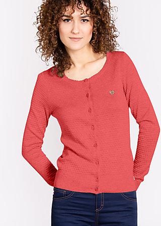 logo knit cardigan, tender rose, Cardigans, Rot