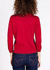 logo knit cardigan short, chili cherrie, Cardigans, Rot
