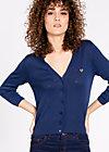 logo knit cardigan short, freesoul, Pullover & leichte Jacken, Blau