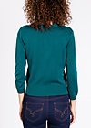 logo knit cardigan short, green lake, Cardigans, Grün