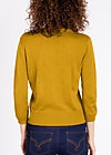logo knit cardigan short, oldy but goldy, Cardigans, Gelb