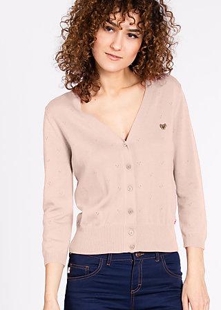 logo knit cardigan short, pale pastell, Cardigans, Rosa