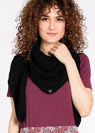 logo knit scarf, miss black, Mufflers, Schwarz