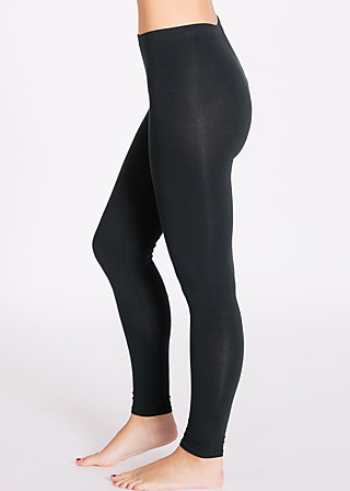 logo leggins, black board, Leggings, Black
