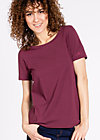 logo round neck, healthy wine, Shirts, Rot