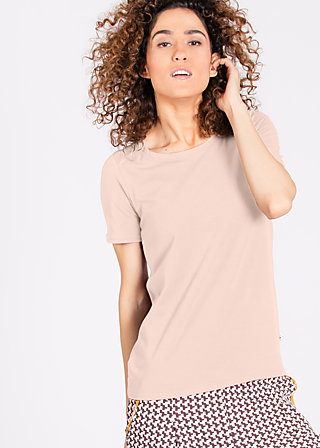 logo round neck, powder rose, Shirts, Rosa