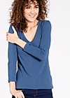 logo v-neck 3/4 sleeve, blue monday, Shirts, Blau