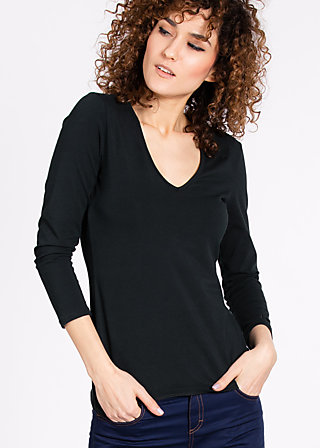logo v-neck 3/4 sleeve, black board, Shirts, Schwarz