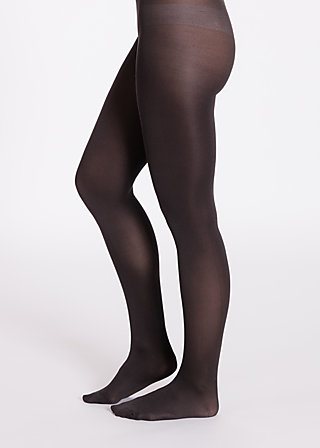 mild tights, black leg, Tights, Schwarz