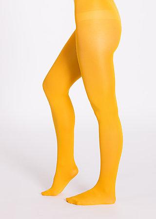 mild tights, mustard leg, Tights, Gelb