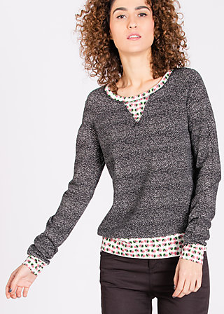 mondfrau sweat, teaching tini, Pullover & Hoodies, Schwarz