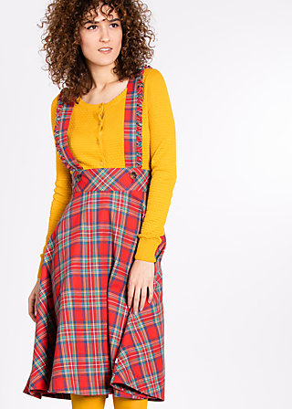 pinafore mon amore skirt, british chic, Röcke, Rot