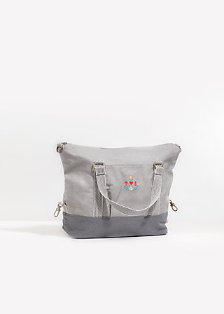 polarlight handbag, berlin dawn, Handbags, Grau