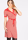 ring my bell cache dress, retro dotty, Jerseykleider, Rot