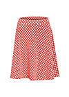 school is cool skirt, retro dotty, Jerseyröcke, Rot