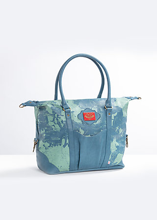 travel fever carpetbag, travel with me, Handtaschen, Blau