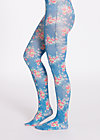 wild tights, flowers for you, Strumpfhosen, Blau