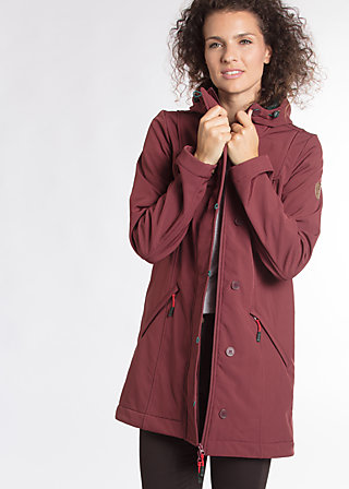 wild weather long anorak, favorite coat, Softshell, Lila
