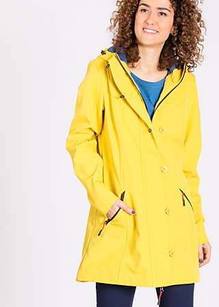 wild weather long anorak, heart of the friesian, Softshell, Gelb