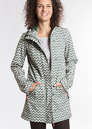 wild weather long anorak, upper class, Jacken, Grau