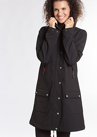 wild weather parka, classic chic, Softshell, Schwarz
