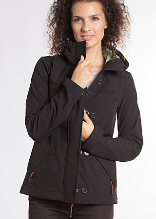 wild weather petit anorak, classic chic, Softshell, Schwarz