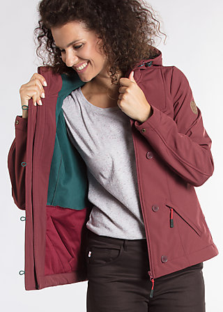 wild weather petit anorak, favorite coat, Softshell, Lila
