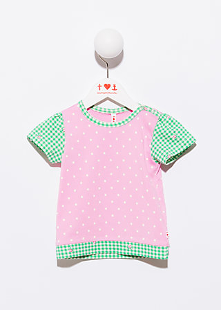 dotties picnic tee, powder blush, Shirts, Rosa