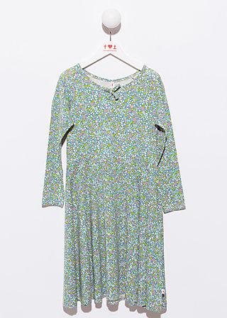 flower power spin around dress, flower field, Kleid, Blau