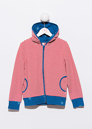 hooded garden zipperle, darling time, Pullover, Rot