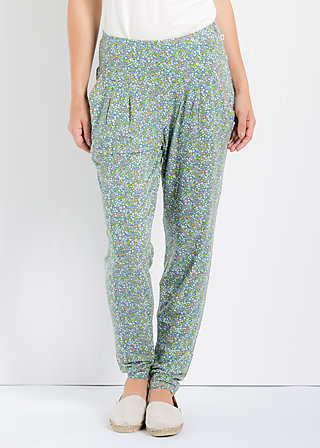 lazy n leisure pants, flower field, Hosen, Blau